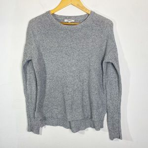 Madewell Hi-Low Scoop Neck Sweater Grey Size XS